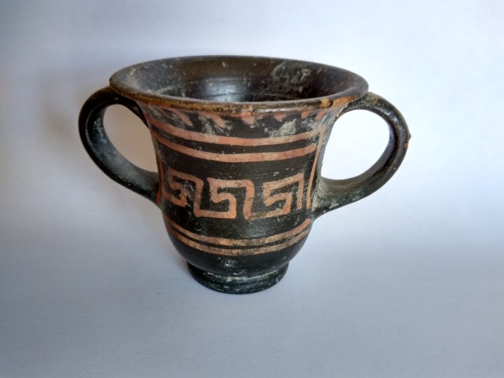 An authentically ancient drinking cup.